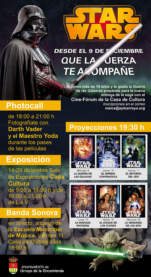 Cartel star_wars Arroyo de la Encomienda